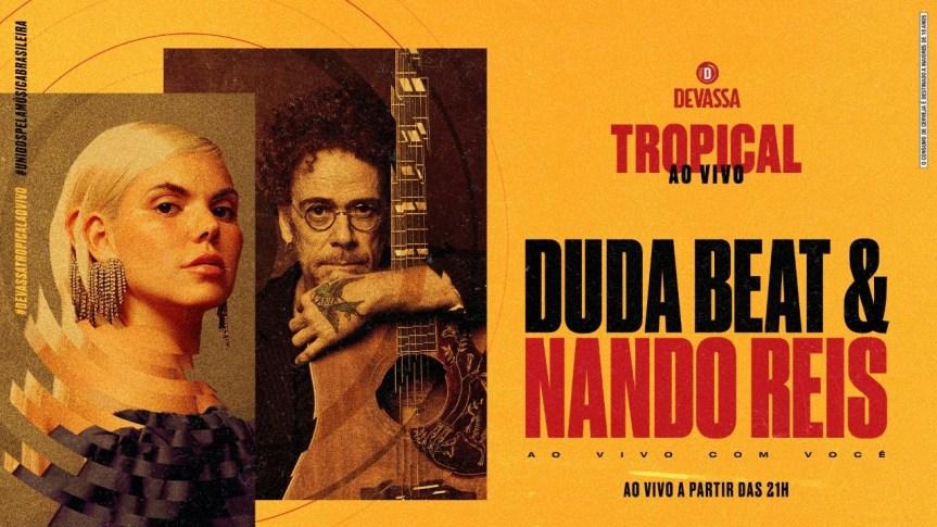 Duda Beat e Nando Reis lançam EP aovivo